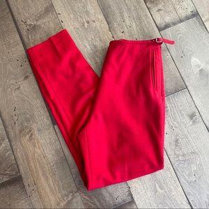 Miu Miu Wool Pants Red Trousers Italy 26